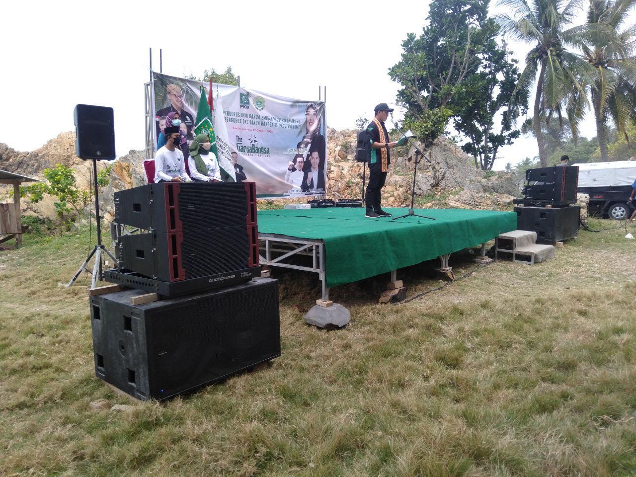 Pelantikan DKW Garda Bangsa Provinsi Lampung Pantai Marina 2020